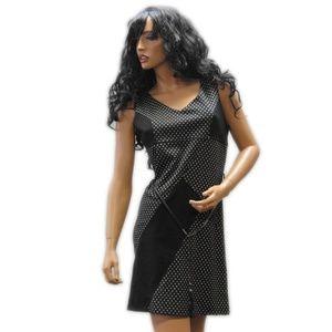 Everis Made in Italy Polka dot B&W dress